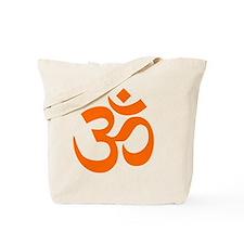 Orange Om Symbol Tote Bag