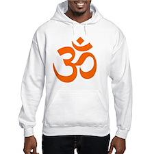 Orange Om Symbol Hoodie