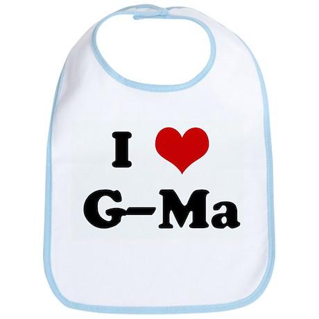 I Love G-Ma Bib
