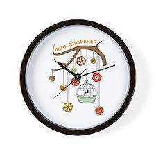 Bird Whisperer Wall Clock