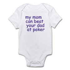 my mom (blue)  Infant Bodysuit