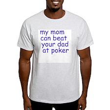 my mom (blue)  Ash Grey T-Shirt