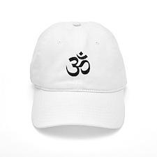 Black Om Symbol Baseball Baseball Cap