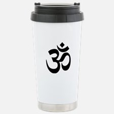 Black Om Symbol Travel Mug