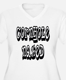 cornhole naked Plus Size T-Shirt