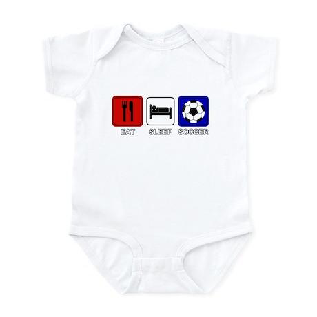 EAT SLEEP SOCCER Infant Bodysuit