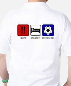 EAT SLEEP SOCCER Golf Shirt