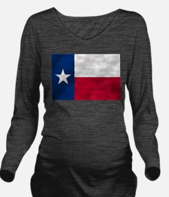 Flag of Texas Long Sleeve Maternity T-Shirt