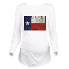 Retro Flag of Texas Long Sleeve Maternity T-Shirt