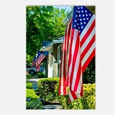 American Flags Postcards