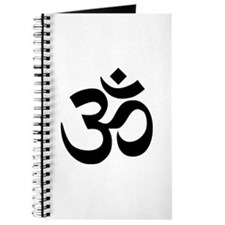 Black Om Symbol Journal