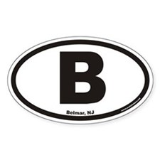 Belmar New Jersey B Euro Oval Decal