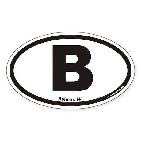 Belmar New Jersey B Euro Oval Sticker