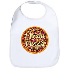 I Want Pizza Bib
