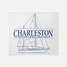 Charleston SC - Throw Blanket