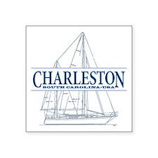 "Charleston SC - Square Sticker 3"" x 3"""