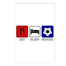 EAT SLEEP SOCCER Postcards (Package of 8)