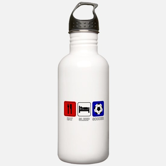 EAT SLEEP SOCCER Water Bottle