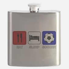 EAT SLEEP SOCCER Flask