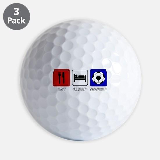 EAT SLEEP SOCCER Golf Ball