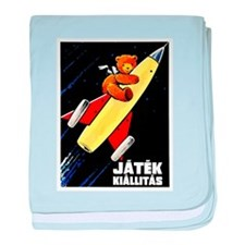 Vintage Hungarian Bear & Rocket Toy Fair Poster ba