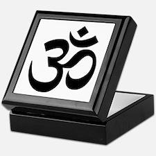 Black Om Symbol Keepsake Box