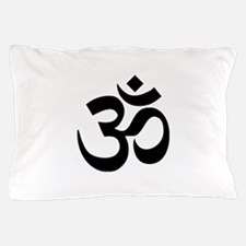 Black Om Symbol Pillow Case