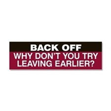 Try Leaving Earlier Car Magnet 10 x 3 (Red)