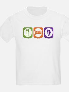 Eat Sleep Dive Kids T-Shirt