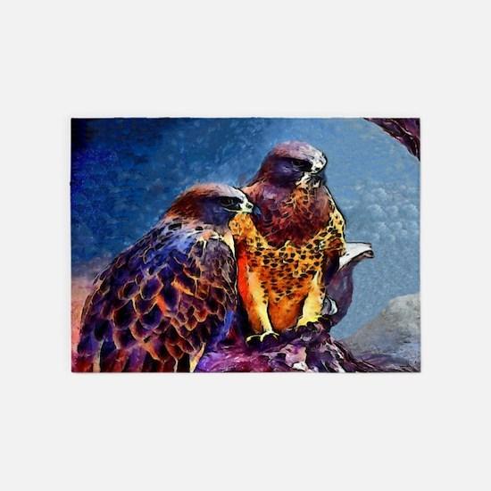 Hawks 5'x7'Area Rug