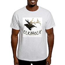 ELKAHOLIC Ash Grey T-Shirt