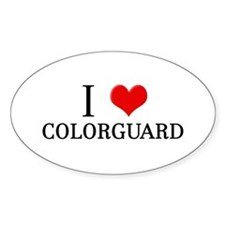 I Heart Colorguard Oval Decal