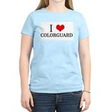 I Heart Colorguard Women's Pink T-Shirt