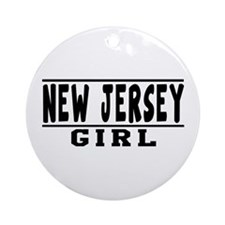 New Jersey Girl Designs Ornament (Round)