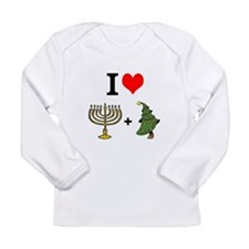 I Heart Hanukkah and Christmas Long Sleeve T-Shirt