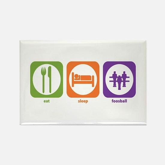Eat Sleep Foosball Rectangle Magnet