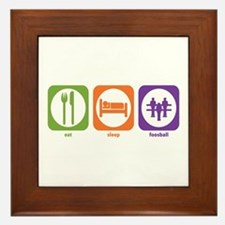 Eat Sleep Foosball Framed Tile