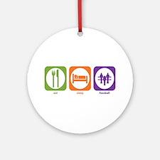 Eat Sleep Foosball Ornament (Round)