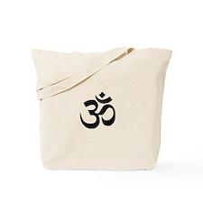 Black Om Symbol Tote Bag