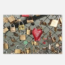 Lovers Bridge Paris, France Postcards (Package of