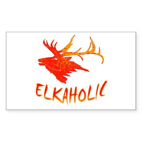 Elkaholic Rectangle Sticker