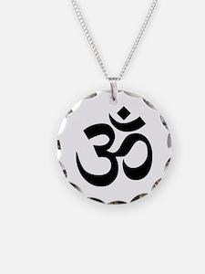 Black Om Symbol Necklace