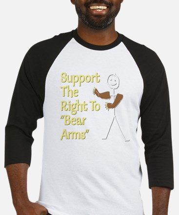 Right To Bear Arms white Baseball Jersey