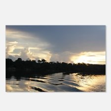 Sunset on the Amazon Water Postcards (Package of 8