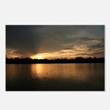 Golden Amazon Sunset Postcards (Package of 8)