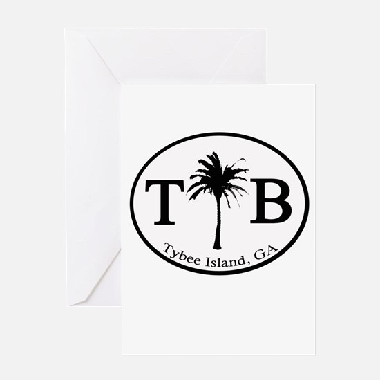 Tybee Island, GA Euro Sticker Greeting Cards