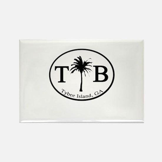 Tybee Island, GA Euro Sticker Magnets