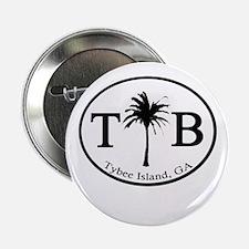 "Tybee Island, GA Euro Sticker 2.25"" Button"