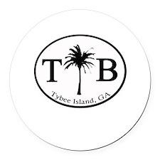 Tybee Island, GA Euro Sticker Round Car Magnet