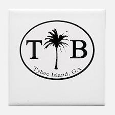 Tybee Island, GA Euro Sticker Tile Coaster